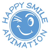 logo happy smile animation