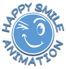 logo happy smile animation ombra
